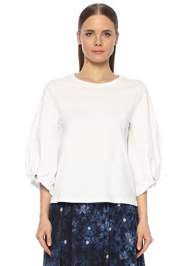NetWork Kadın 1073513 Regular Fit Tshirt Beyaz